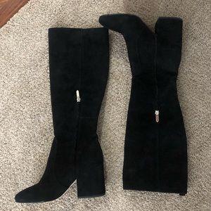 Sam Edelman Black Suede Knee High Boots